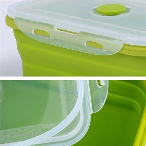 Складной силиконовый ланч бокс трансформер контейнер для еды
