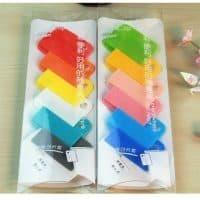 Скрепки-закладки канцелярские пластиковые цветные в наборе 6 шт.