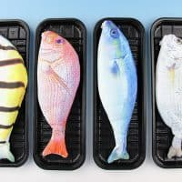 Тканевый пенал для канцелярии в виде рыбы