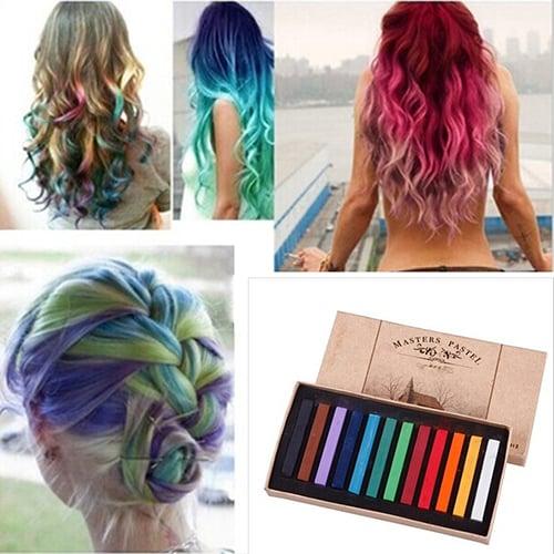 Цветные мелки для временной окраски волос в наборе