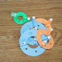 Устройство приспособление для изготовления помпонов в наборе 4 шт.