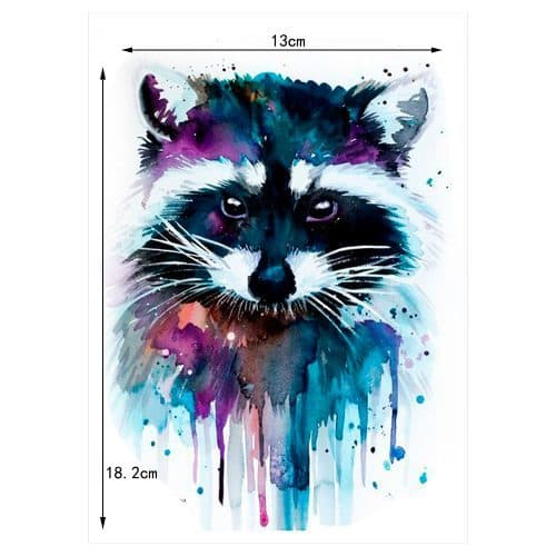 Временная водонепроницаемая татуировка (медведь, енот, волк, роза, бабочка и многие другие)