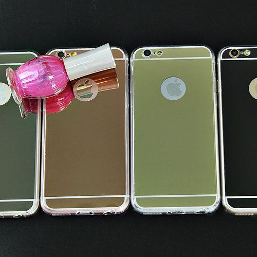 Зеркальный силиконовый чехол-бампер на айфон iPhone 5, 5S, SE, 6, 6S, 6 plus, 7, 7 plus, 8, 8 plus, X