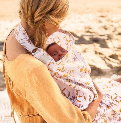Накидка фартук для кормления ребенка грудью на улице