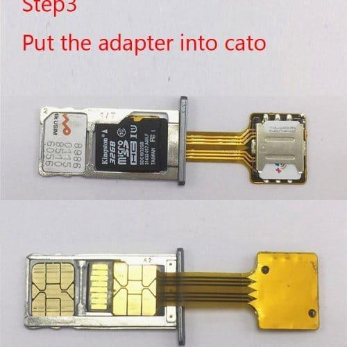 Адаптер для установки 2 SIM и MicroSD в комбо-слот