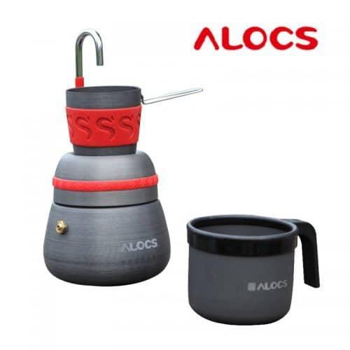 Alocs кофеварка с чашкой/кружкой походная портативная туристическая алюминиевая на огне
