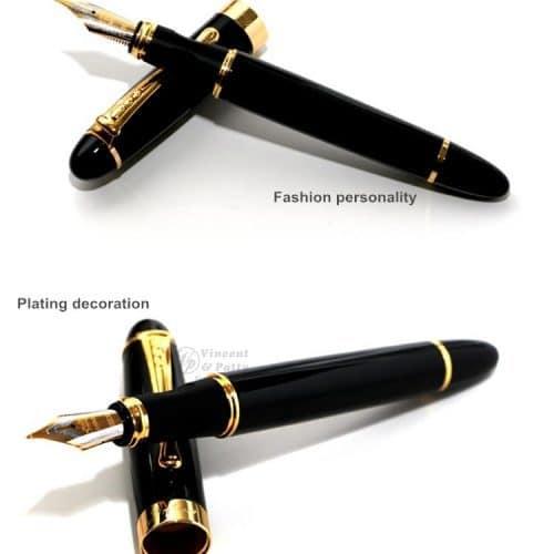 Автоматическая перьевая шариковая металлическая ручка 0,5 мм