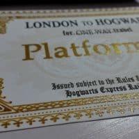 Билеты на Хогвартс экспресс из Гарри Поттера