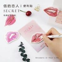 Декоративные стикеры-наклейки в виде губ/поцелуя