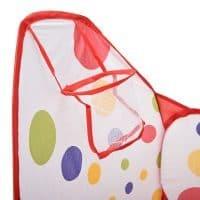 Детская игровая палатка манеж бассейн с баскетбольным кольцом для шариков