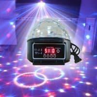 Диско-шар лазерный проектор светодиодный цветомузыкальный 9 цветов