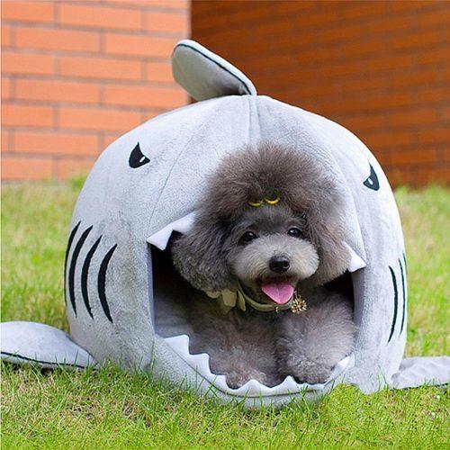 Домик для кошки, щенка, собаки в виде акулы
