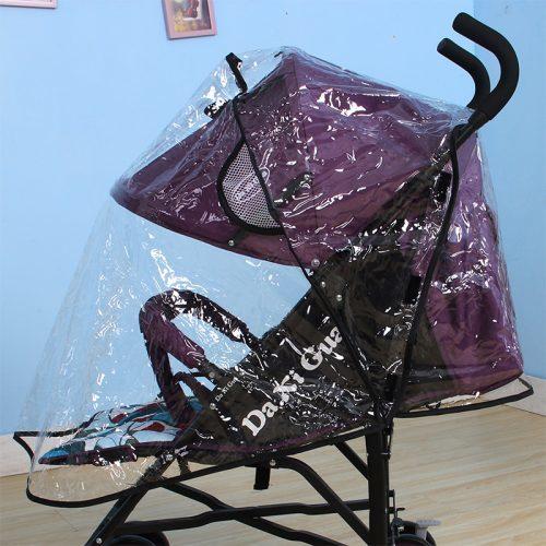 Дождевик на детскую прогулочную коляску универсальный