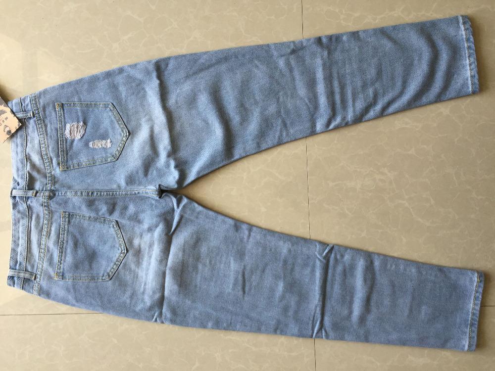 27903dfa752 Купить Джинсы бойфренды женские рваные с дырками с высокой талией на ...
