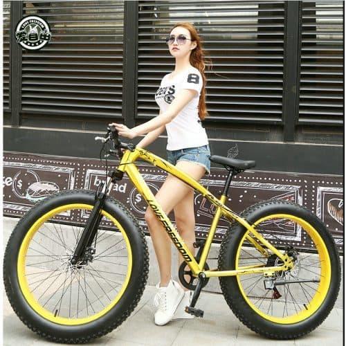 Фэтбайк горный велосипед на толстых широких колесах 24/26″, 7/21/24/27 скоростей, 26х4.0