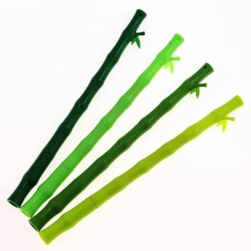 Гелевые черные ручки 0,38 мм в виде бамбука