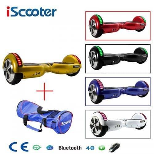 Гироскутер электрический скейтборд на 2 колесах bluetooth 6.5 дюймов