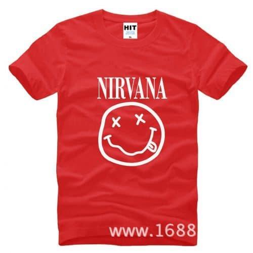 Хлопковая мужская футболка с надписью Нирвана (Nirvana)