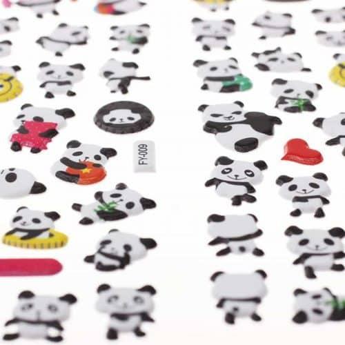 Канцелярские 3D наклейки Панды