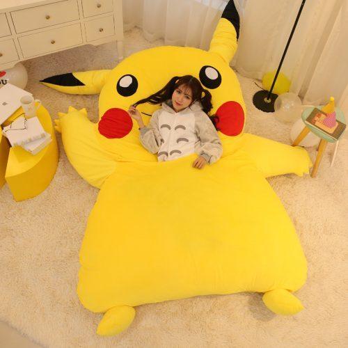 Кровать-подушка-мешок в виде покемона Пикачу