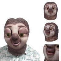 Латексная маска ленивца на голову