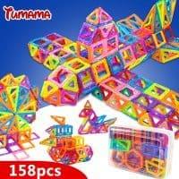 Магнитный 3D конструктор для детей 110/128/142/184 шт. в наборе