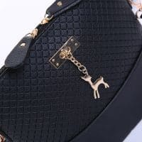 Маленькая модная женская сумка на ремне через плечо с подвеской-оленем