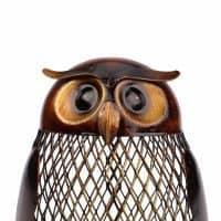 Металлическая копилка для денег в виде совы
