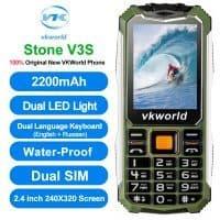 Мобильный телефон VKWorld Stone V3S 2.4″ с русской клавиатурой, водонепроницаемый, с двумя сим картами, двухъядерный