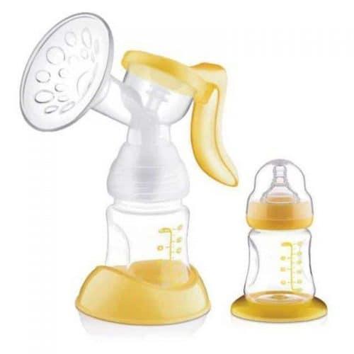 Молокоотсос ручной с бутылочкой 150/160 мл