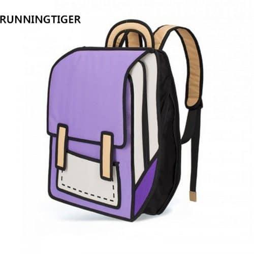Мультяшный 3D школьный женский рюкзак
