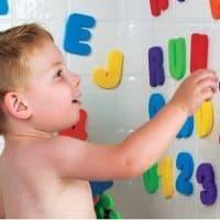 Мягкие буквы и цифры игрушки для купания в ванную для детей 3+ в наборе 36 шт.