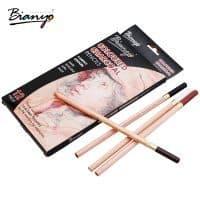 Мягкие пастельные карандаши в наборе 12 шт. Bianyo