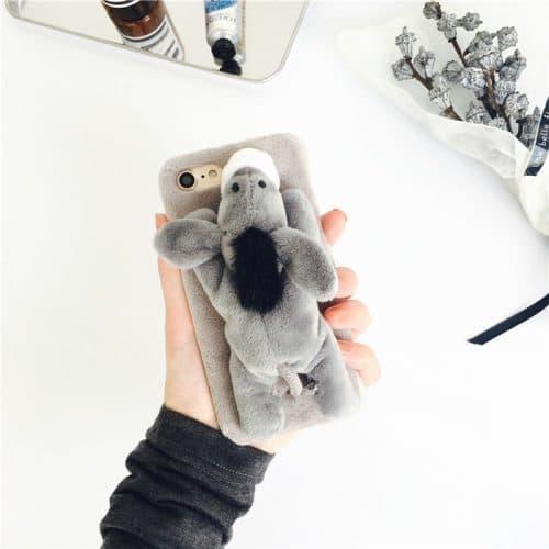 Мягкий чехол на телефон с плюшевой игрушкой для айфон iPhone 7, 7plus, 6, 6s, 6Plus, 6SPlus