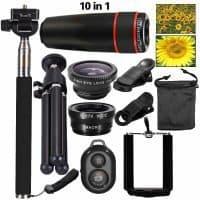 Набор из объективов, монопода, штатива для фото и видеосъемки