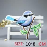 Нашивка на одежду Птица на ветке