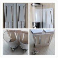 Настенный дозатор для шампуня и геля для душа в ванную