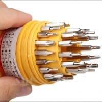 Отвертка прецизионная в наборе с битами-насадками для ремонта мобильных телефонов