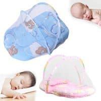 Переносная детская кроватка-палатка с москитной сеткой