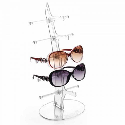 Пластиковая настольная стойка-подставка-держатель под солнцезащитные очки для дома (для 5 пар)