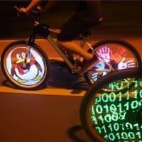 Программируемая светодиодная led подсветка для колес велосипеда