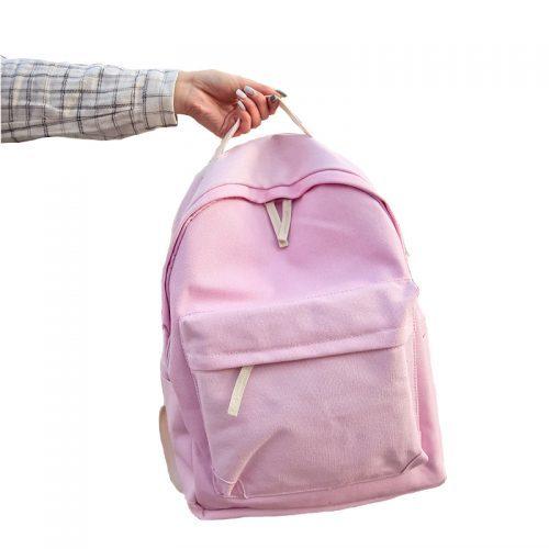 Рюкзак женский/мужской тканевый городской молодежный однотонный без рисунка 20-35 л (много расцветок)