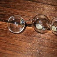Серьги-гвоздики с прозрачным шариком