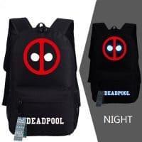 Школьный светящийся светоотражающий Рюкзак Дэдпул (Deadpool)