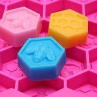 Силиконовая форма в виде соты для выпечки, мыловарения, мастики