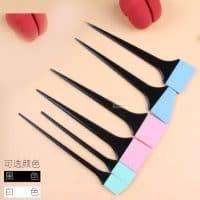 Силиконовая щетка-лопатка для окрашивания волос в наборе 6 шт.