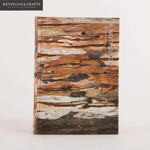 Скетчбук-блокнот-ежедневник с твердой обложкой под фактуру дерева 100 листов