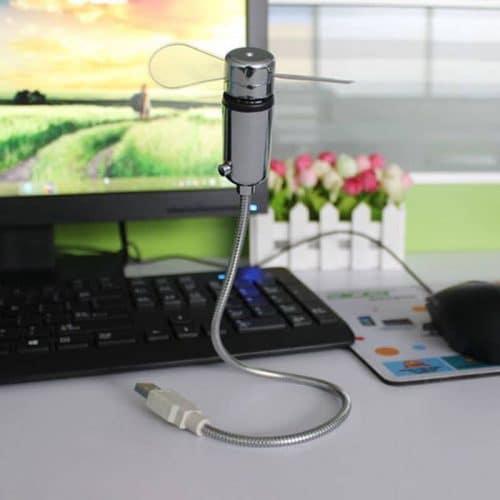 Светодиодный usb вентилятор часы