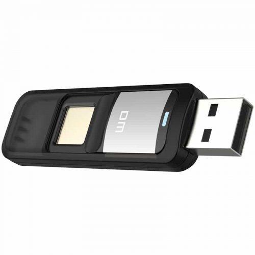USB флеш-накопитель флешка DM со сканером отпечатков пальцев 32 ГБ