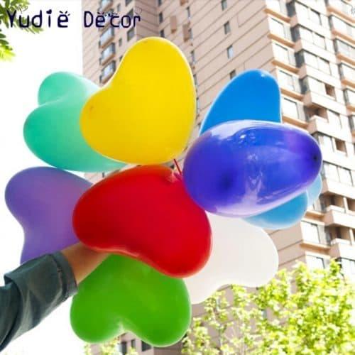 Воздушные латексные шары в форме сердца 10 дюймов в наборе 10 шт.